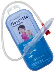 Awesome product! The Nosefrida instantly takes all of the mucous out of baby's nose.