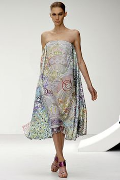 Loving the airy feel and abstract money print on this Mary Katrantzou dress