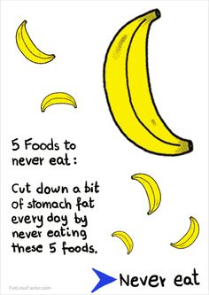 http://www.fatlossfactor.com/5-foods/ : Cut down a bit of  stomach fat every day by never eating these 5 foods.