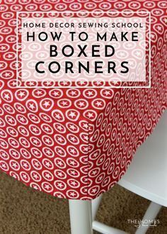 Sewing Techniques Couture Learn the simple sewing technique for giving a flat piece of fabric boxed corners to fit over tables, cushions and more! Sewing Hacks, Sewing Tutorials, Sewing Crafts, Sewing Tips, Sewing Ideas, Sewing Basics, Sewing Lessons, Craft Tutorials, Craft Ideas
