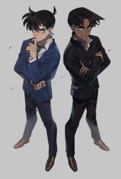 Embedded Detective, Heiji Hattori, Detektif Conan, Greatest Mysteries, Magic Kaito, Case Closed, Police, Anime, Fan Art