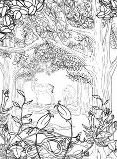 Printable Waterfall Nature Scene