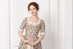 Linen flower dress 18 century