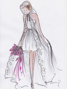 Croquis de robe - Fanny Liautard - PARIS