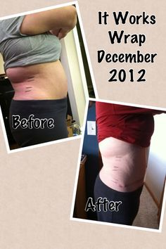 This is from ONE wrap!! Amazing!!  feelingslimwithkim.myitworks.com   or like me on facebook! It Works Global Kimberly Pelkey