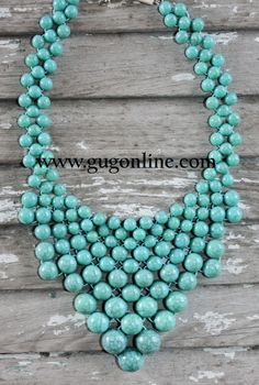 Giddy Up Glamour  $19.95  Turquoise Bead Necklace