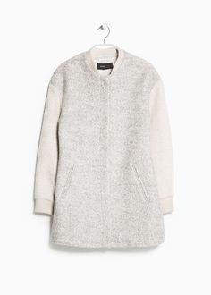 Kokon-Mantel aus Tweed