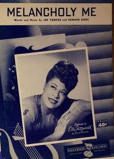 """Ella Fitzgerald Sheet Music """"Meloncoloy Me"""" by Joe Thomas & Howard Biggs Recorded on Decca Records"""