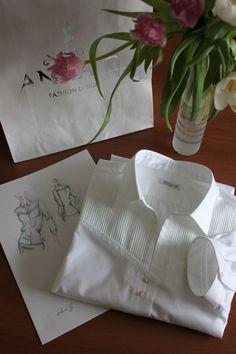 #Anna_G #Designer #Shirtmaker /Delicate hand tailored White Cotton Shirt