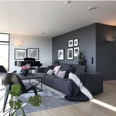 gorgeous grey living room ideas 31 ~ my. Interior Design Living Room Warm, Living Room Decor Cozy, Living Room Grey, Home Living Room, Living Room Designs, Warm Home Decor, Living Room Inspiration, Scandinavian Living, Dark Grey Walls