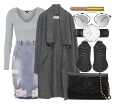 """""""Zara, TOPSHOP and Chanel"""" by camrzkn ❤ liked on Polyvore featuring Topshop, One Teaspoon, Zara, Chanel, adidas Originals, Christian Dior, Daniel Wellington, LASplash, women's clothing and women"""