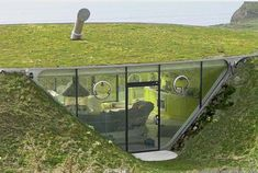 underground home on the coast of Wales - pretty neat not gonna lie hehe