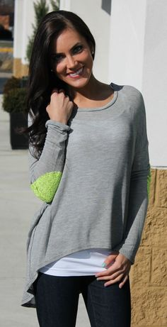 Dottie Couture Boutique - Patch Sequin Sweater- Grey , $42.00 (http://www.dottiecouture.com/patch-sequin-sweater-grey/)
