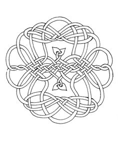This Is One Of My Many Celtic Knots Which I Have Formatted To Be A Coloring