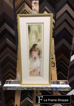 This blurred #photo boasts so much style - triple mat and art glass were a must. Framed in Roma Moulding 's Belle Epoche collection this piece is an absolute showstopper! #photography #birdphoto #art #customframing #leframeshoppe