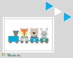 Erdei állatok vonatos keretezett falikép / babaszoba dekoráció 20x30 cm-es méretben (MesesGyerekszoba) - Meska.hu Free Printables, Monitor, Frame, Home Decor, Picture Frame, Decoration Home, Room Decor, Free Printable, Frames