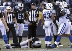 Sky is falling in Oakland after Derek Carr injury = The mood in the locker room was uncharacteristically somber for the Oakland Raiders after beating the Indianapolis Colts and keeping their hopes for…..