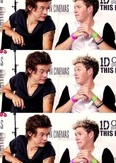 Narry making faces at each other ❤