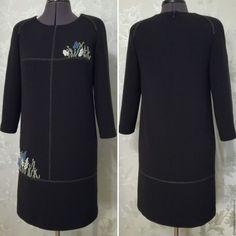 863123ef8d2 Платье шерстяное с вышивкой Гиацинты – купить в интернет-магазине на  Ярмарке Мастеров с доставкой