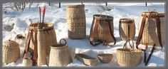 Black Ash Pack Basket - Maine Basket Maker			   Made in Maine by Mark Young