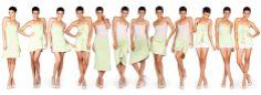 TWELVEWAYS Lime   TwelveWays - Multifunctional Dress