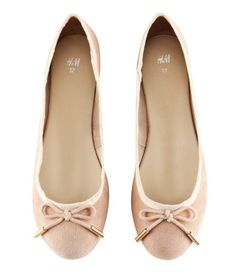 Ballet flats - if only they had a square toe so they'd look a bit more like pointe shoes.