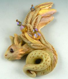 This is one of Christie's fabulous dragons.  I love doing this kind of work in polymer clay and have learned so much from her.