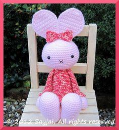 Sayjai amigurumi crochet patterns ~ K and J Dolls / K and J Publishing: Huggy Bunny Crochet Pattern