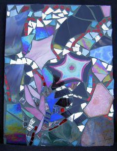 Mosaic , A Starry Night, Karen Pearle Mosaics, Amethyst, Texture, Pearls, Crystals, Night, Crafts, Surface Finish, Manualidades