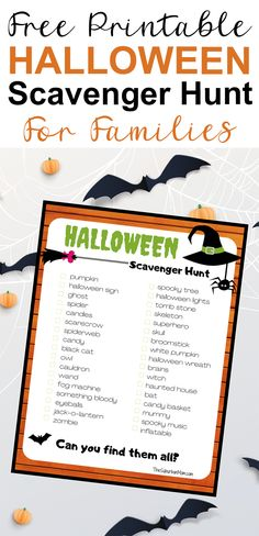 The whole family will enjoy this free printable scavenger hunt for kids. Play the game together as a team or individually and see who can find the most Halloween decorations. Halloween Crafts For Kids, Family Halloween, Holidays Halloween, Halloween Party, Halloween Decorations, Halloween Scavenger Hunt, Scavenger Hunt For Kids, Kids Activities At Home, Party Activities