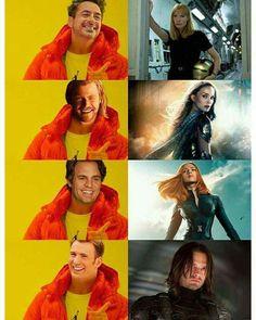 Cap and Bucky memes. Avengers Humor, Marvel Avengers, Marvel Jokes, Funny Marvel Memes, Dc Memes, Marvel Dc Comics, Marvel Heroes, Captain Marvel, Captain America