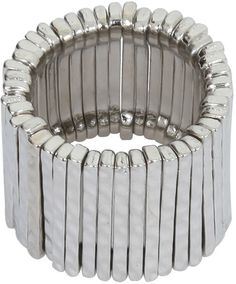 Yours Clothing Silver Layer Stretch Ring