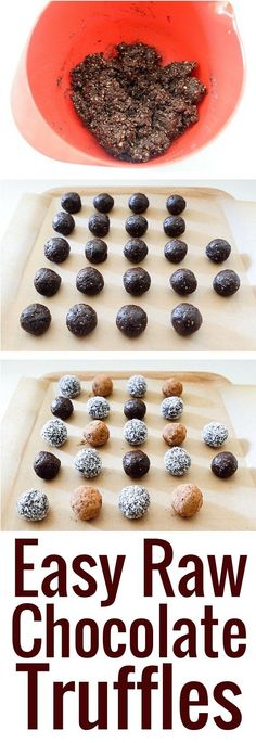 Delicious raw chocolate truffles, with a vibrant chocolate flavor and a rich, lightly nubby texture from the nuts.