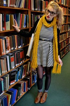 Geek Chic -decided i need to start crocheting a giant mustard yellow scarf BECAUSE