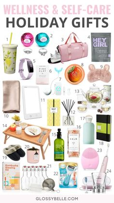 Holiday Gift Guide 40 Thoughtful Self-Care & Wellness Gifts – Glossy Belle Looking for healthy gifts to give someone who is into health, fitness, and self-care? Here are 40 self-care & wellness gifts you can give them this holiday! Easy Diy Gifts, Diy Crafts For Gifts, Cute Gifts, Simple Gifts, Diy Gifts For Christmas, Holiday Gifts, Holiday Fun, Christmas Ideas, Christmas Christmas
