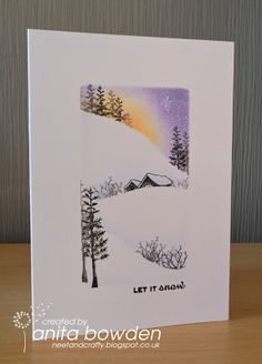 one layer christmas card