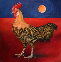 """Golden Campine"" oil on canvas"