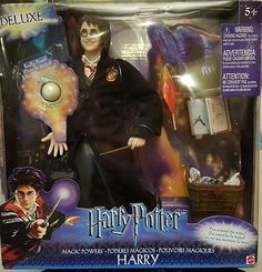 HARRY POTTER - MAGIC POWERS HARRY Deluxe Figure Doll by Mattel 2003