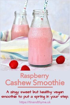 A zingy sweet but healthy vegan smoothie almost guaranteed to put a spring in your step. Floral scents of rose and a bit of zesty lemon make this breakfast drink even more appetising. Matcha Smoothie, Coconut Smoothie, Raspberry Smoothie, Vegan Smoothies, Green Smoothie Recipes, Smoothie Bowl, Blender Recipes, Cooking Recipes, Veggie Recipes