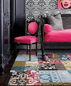 Funky Flor Carpet Tiles -LOVE THIS !!  This so looks like my sister in law... mary