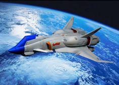 Sleek starship