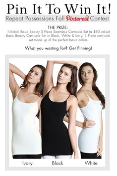 Pin It To Win It Contest! - Repeat Possessions' Blog #camisoles #freestuff #contest #giveaway