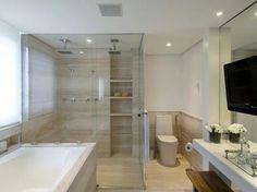 Aprenda a decorar um banheiro espaçoso. (Foto: Divulgação)