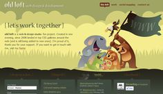 Examples of web layouts with vector illustrations