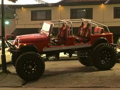 4 door CJ7 4x4, Red Jeep, Jeep Camping, Jeep Cj7, Cool Jeeps, Jeep Renegade, Jeep Life, Amazing Cars, Cars And Motorcycles