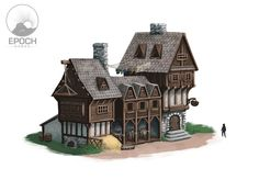 Image result for small fantasy medieval triangle building