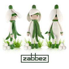 Snowdrop Sia - Amigurumi crochet pattern by Zabbez
