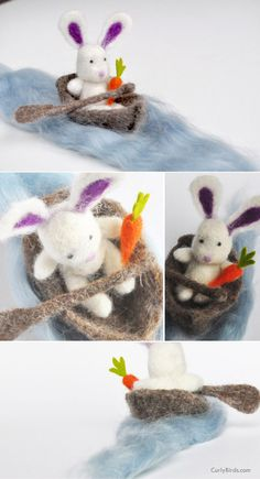 How to Make a Needle Felted Bunny | CurlyBirds.com