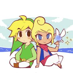 The Legend of Zelda: The Wind Waker, Toon Link and Tetra