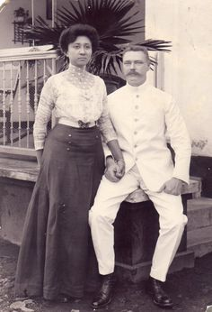 Grandmother, Henriette (Scholtz)Blom with grandfather, Hendrik Blom (from Hattem, Holland), in Soerabaja, Indonesia.
